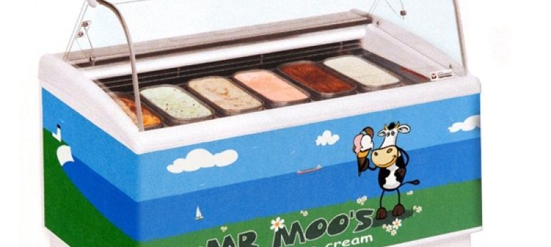 Mr Moos wrapped freezer